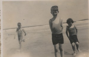 Eoin Laurence Mary at beach c. 1935 copy